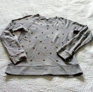 J Crew embellished sweatshirt